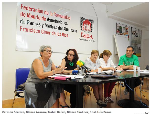 Carmen Ferrero, Blanca Azanza, Isabel Galvín, Blanca Jiménez, José Luis Pazos  Autor: FETE UGT